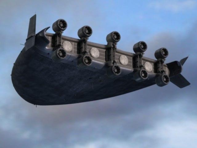 aircraft groom lake 3d model