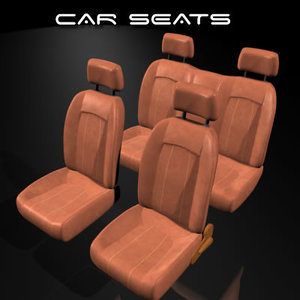automobile seat car 3d model