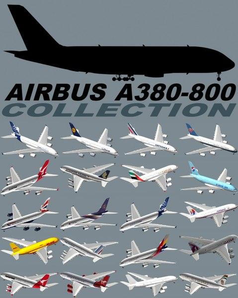 3d model airbus a380-800
