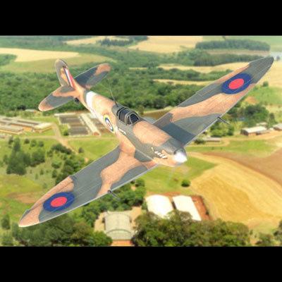 spitfire second world 3d model