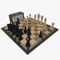 3dsmax chess set