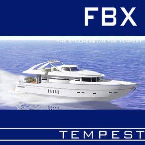 3d yacht boat motorboat