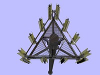 tower antennas 3d model