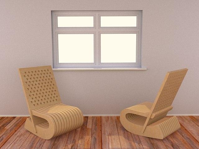20 modern chairs 3d 3ds