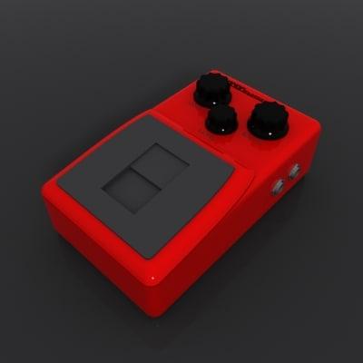 pedal guitar 3d max