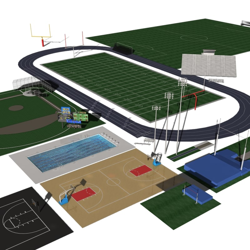 3d model school sports vol 4