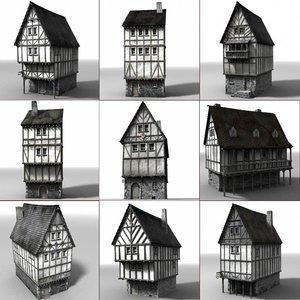 lightwave medieval townbuildings