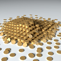coins treasure 3d model