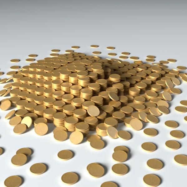 coins treasure 3d model