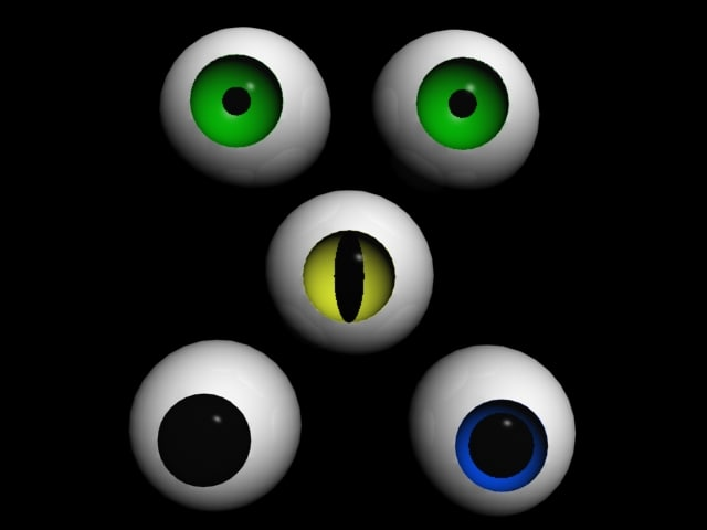 eyes eyeball 3d max