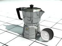 italian coffe 3d model