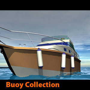 sea beach buoy baywatch life 3d model