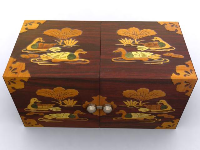 korean jewelry box 3d model