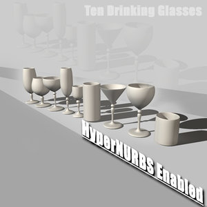 cinema4d martini glass drinking