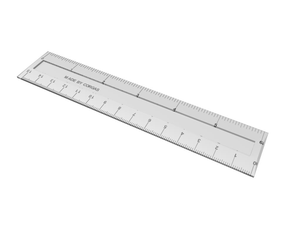 15cm ruler 3d model