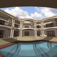 3d roman house model