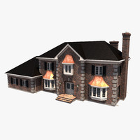 3d story residential house model
