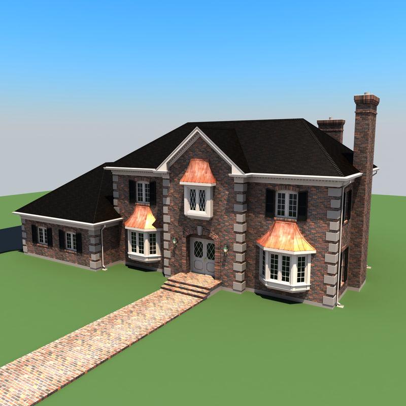 3d story residential house model