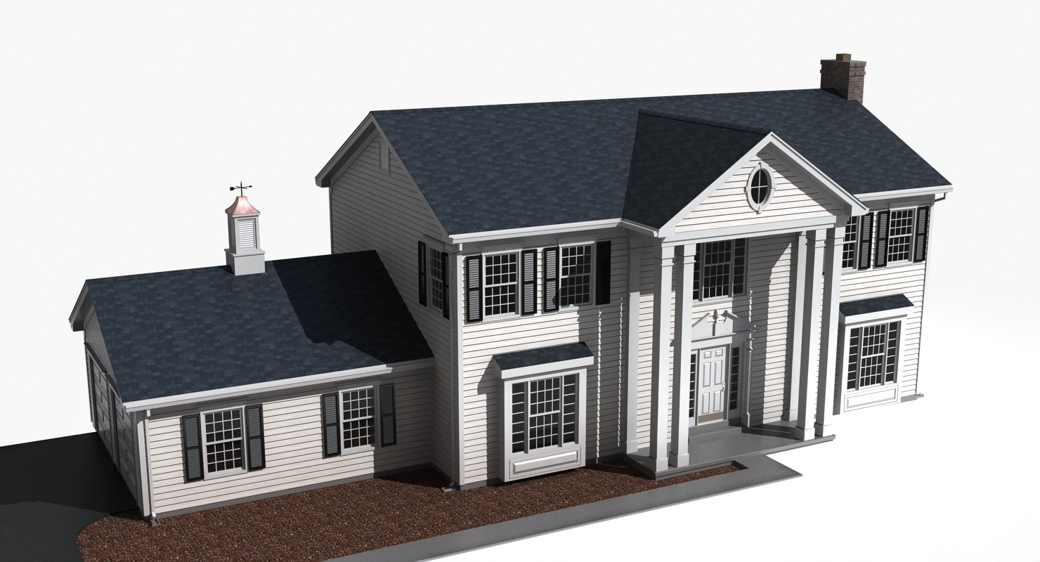 story residential house 3d 3ds