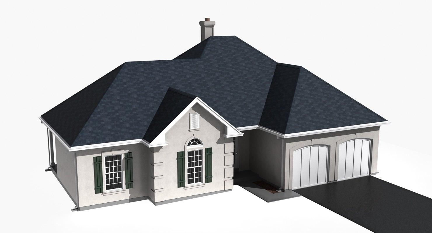 3d model story residential house