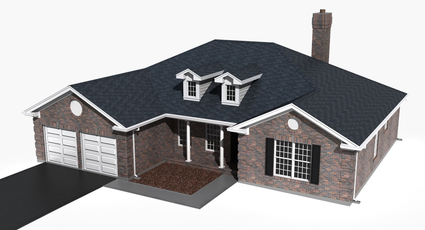 3ds max story residential house