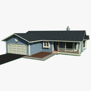 story residential house 3ds