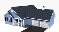 story residential house 3d model