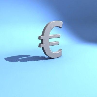 euro money symbol 3d model