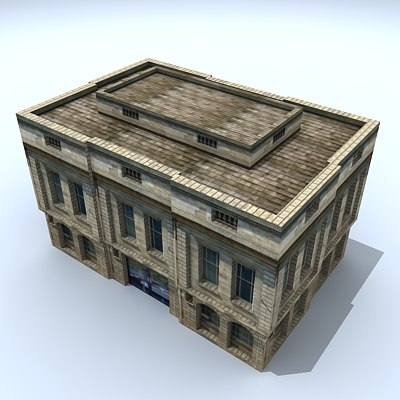 3d model of building house shop