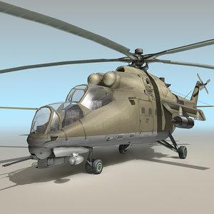 mil mi-35 mi35 mi 3d max