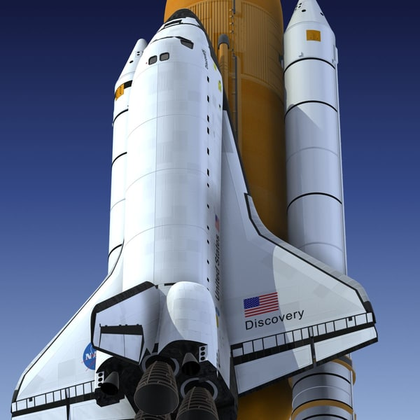 space shuttle discovery 3d model