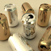 3d aluminum cans model