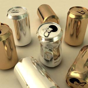 3d aluminum cans model