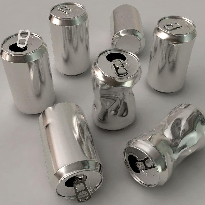 3d aluminum cans