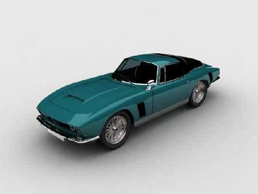 iso grifo classic sport car 3d max