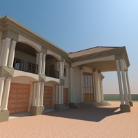 3d model designed roman house architecture
