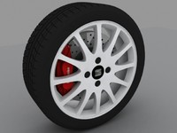 3d model seat ibiza cupra alloy wheel
