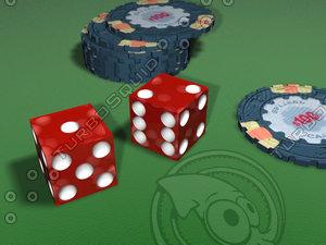 casino chips dice max
