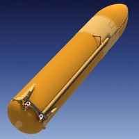 space shuttle external tank 3d max