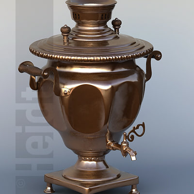 3d model of russian samovar tq