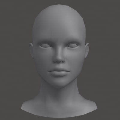 real time female head max