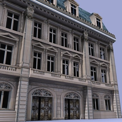 3dsmax french building