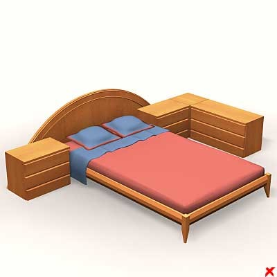bedroom furniture 3d max