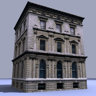 building house hall 3d 3ds