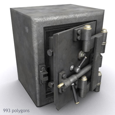 safe antique 3d model