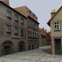 3ds max building house town