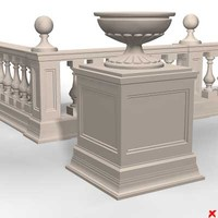 3ds max balustrade