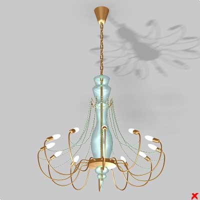 chandelier light lamp 3d max