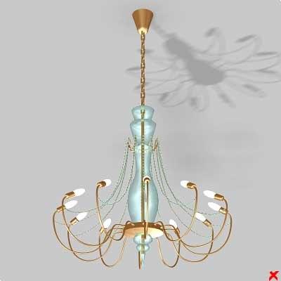 chandelier light lamp 3d max