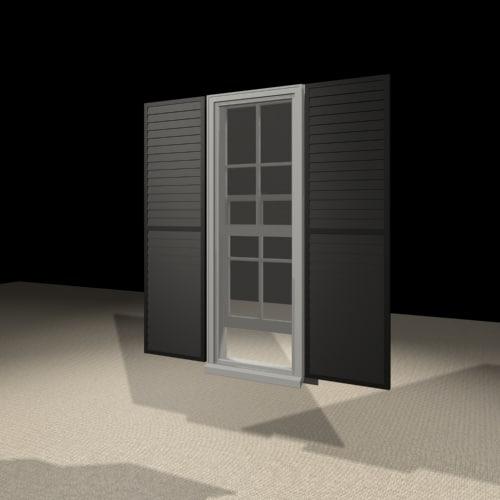 3d model 1852 window